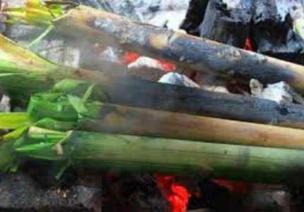 Thịt lợn nướng ống tre ẩm thực nổi tiếng của Tây Nguyên