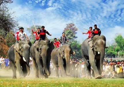 Trải nghiệm lễ hội đua voi khi du lịch Tây Nguyên mùa xuân
