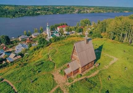 Bức tranh làng quê nước Nga bên dòng Volga
