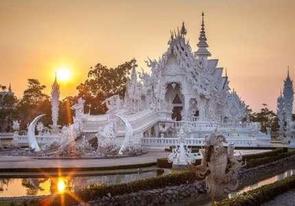 Vẻ đẹp huyền ảo của ngôi đền Trắng ở Thái Lan