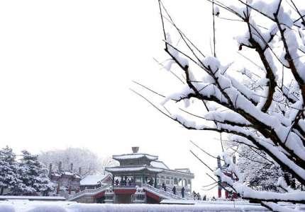 Săn tuyết tại Cung Điện Mùa hè ở Bắc Kinh Trung Quốc