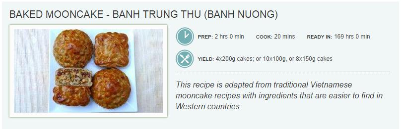 MOONCAKE Recipe – Bánh Trung Thu (Bánh Nướng)