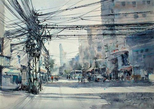 Việt Nam trong tranh họa sĩ Thái
