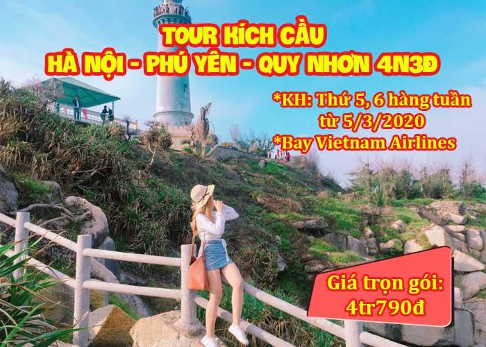 Tour Kích Cầu Hà Nội - Phú Yên – Quy Nhơn 4 Ngày 3 Đêm (Bay Vetnam Airlines)