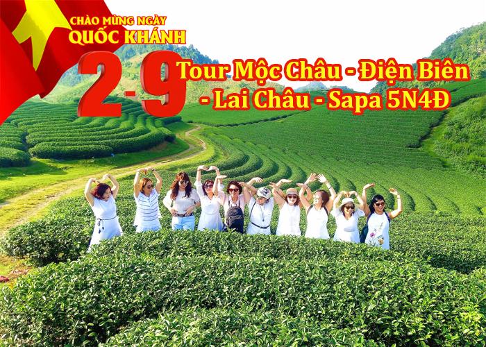 Tour Mộc Châu – Điện Biên – Lai Châu – Sapa 5 Ngày Lễ 2/9